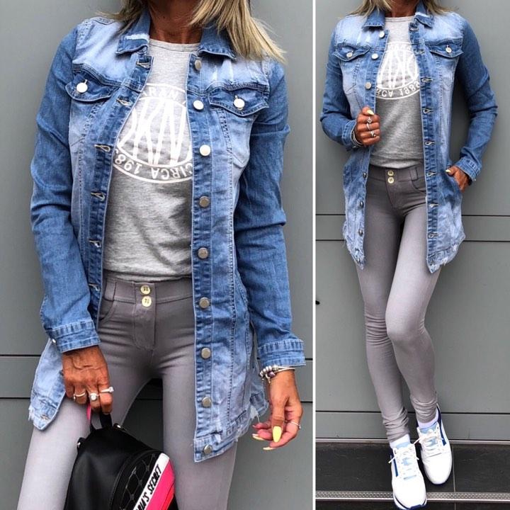 Stylová dámská džínová bunda ANULE