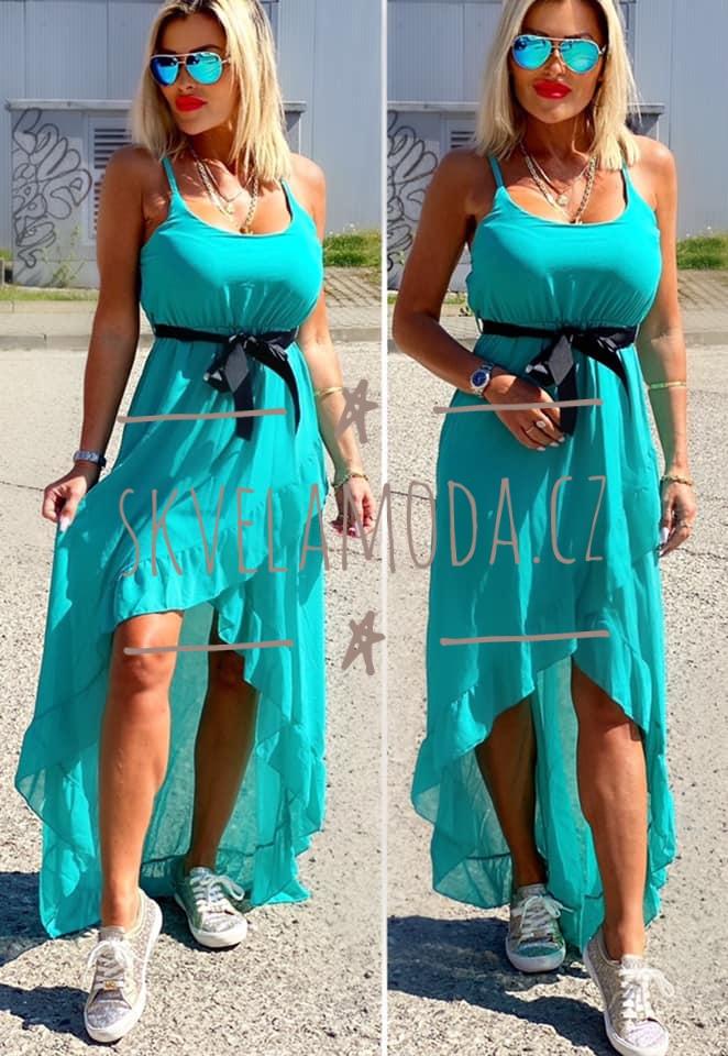 Dámské šaty dlouhé PÁSEK