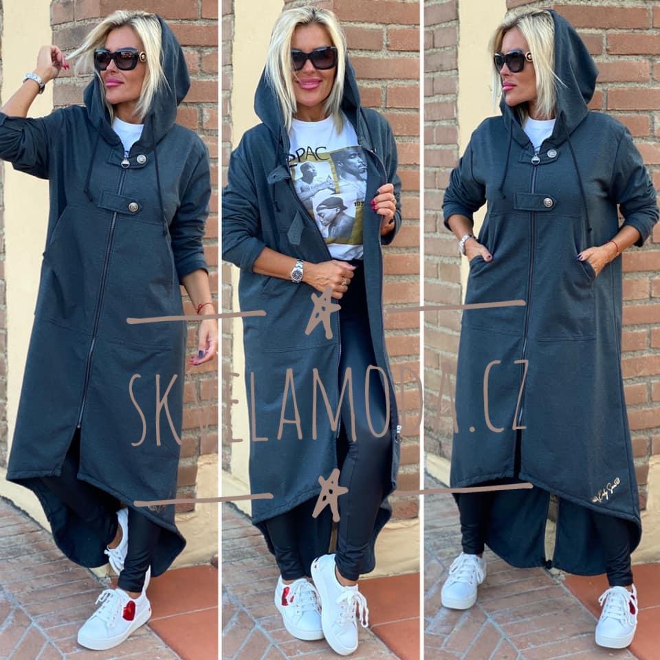 Luxusní dlouhá mikina - kabátek KATY SAM
