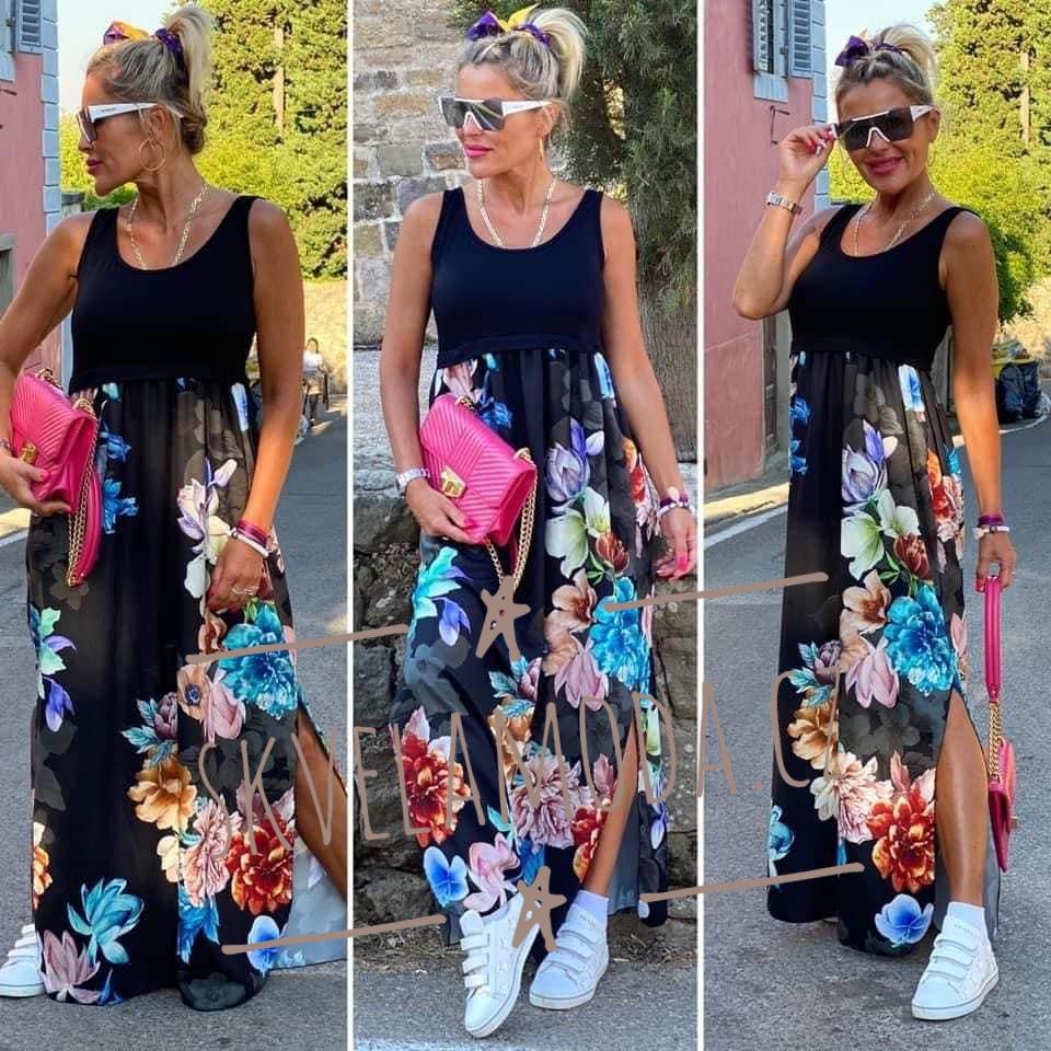 Luxusní dámské šaty FLOWERS